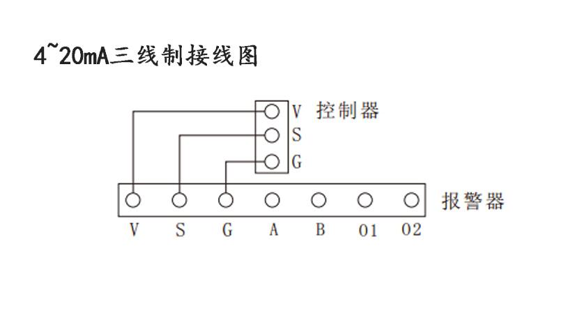 可燃气体浓度探测器接线方式